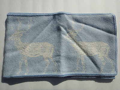 """Thomas Paul, thomaspaul, Deer 100% Baby Alpaca Scarf, Blue 63"""" by 9"""""""