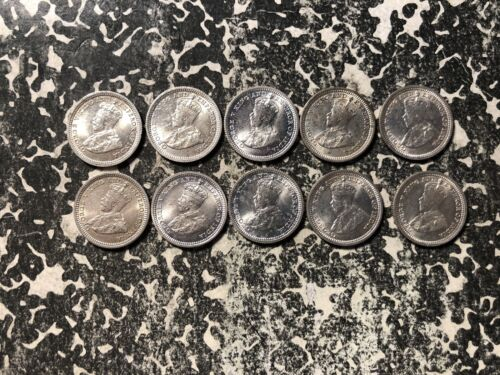 1935 Straits Settlements 5 Cents Silver! (10 Available) UNC (1 Coin Only)