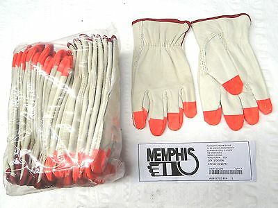 12 Pair Small S Memphis 3213 Industrial Grade Leather Work Construction Glove