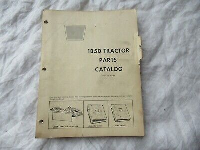 Oliver Cockshutt White 1850 Tractor Parts Catalog Book Manual