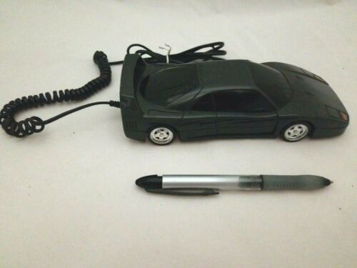 Black Ferrari Testarossa Land Line Touch Tone Phone Home Telephone