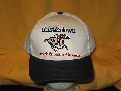 THISTLEDOWN America's Best Bet In Horse Racing Vintage Embroidered Pepsi Hat NEW