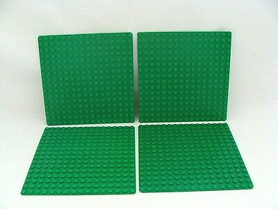 Lego 16x16 Dot Thin Green Base Plate Lot Of 4