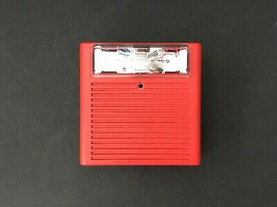 Wheelock As-24mcwh Fire Alarm Hornstrobe Wall Red