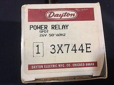 Dayton 3x744e Power Relay 30 Amp 24 Volt Spdt - New