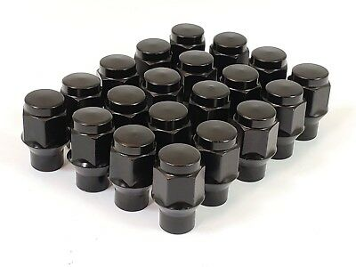 24 Pc BLACK ET BULGE AFTERMARKET WHEEL ACORN LUG NUTS M12x1.50 # 7807BK