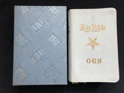 1968 FREEMASONRY Holy Bible Portage Lakes Masonic Temple Sandra Evans w/ Box
