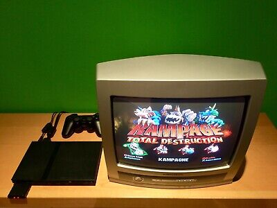 PS2 PLAYSTATION 2 Spiel KONSOLE Slim Line II Set SCPH 70004 komplett+ Controller (Ps2 Komplett Konsole)