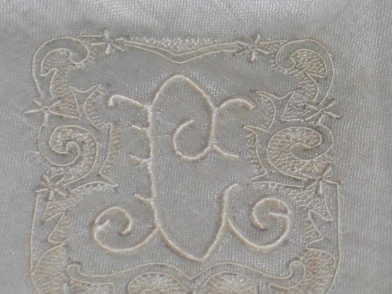 "Stunning VTG MADEIRA Embroidered Monogram ""L"" Handkerchief Hanky~Bridal~NWT"