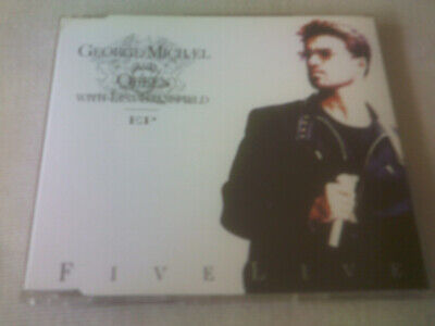 GEORGE MICHAEL / QUEEN / LISA STANSFIELD - FIVE LIVE EP - UK CD SINGLE