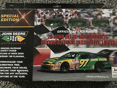 JOHN DEERE MOTORSPORTS INDOOR/OUTDOOR DECORATIVE LIGHTS NIB VINTAGE