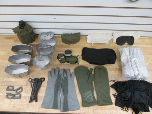 1 LOT OF MISC. U.S. MILITARY ITEMS NEW AND USED OVER 75 PEICES