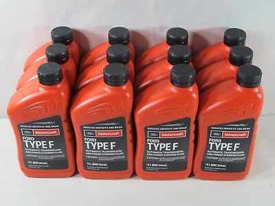 Motorcraft TYPE F Automatic Transmission & PS Fluid XT-1-QF 1 Case (12 Quarts)