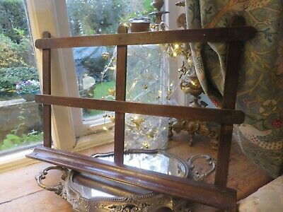 A SUPER VINTAGE FRENCH FOLDING WOODEN MAHOGANY MUSIC / PROMPT STAND