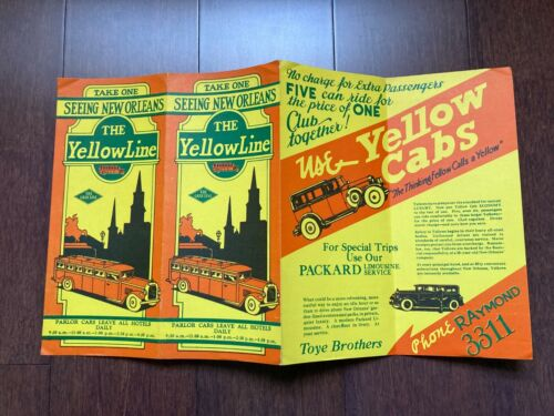 TAKE ONE ~ SEEING NEW ORLEANS ~ THE YELLOW LINE ~ TOYE BROTHERS ~ 1920