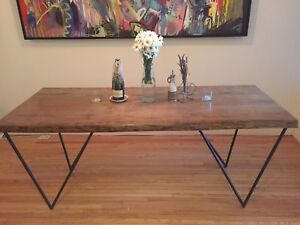 Custom Live Edge Oak Wood Dining Table (w or w/out chairs)