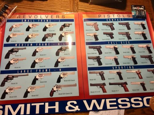 RARE Smith & Wesson Revolver and Pistol LARGE Poster