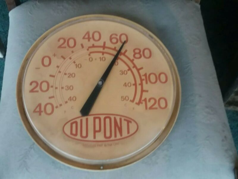 """Vintage DuPont Thermometer 13 3/8"""" """"Working Old School"""""""