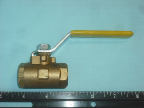 Parker Hannifin V500P-6 Brass Industrial Ball Valve, PTFE Seat, 600