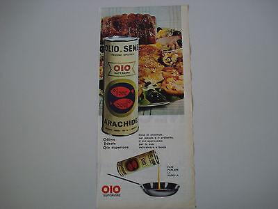 advertising Pubblicità 1962 OLIO DI SEME DI ARACHIDE OIO