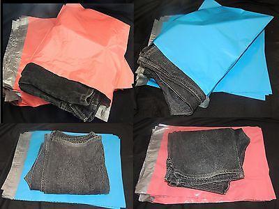 100 Pink And Blue 14x17 Flat Poly Postal Mailer Envelopes Self Sealing Usps Bag