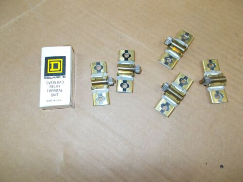 SQUARE D OVERLOAD RELAY THERMAL UNITS TYPE B 1.03 NEW 6PCS