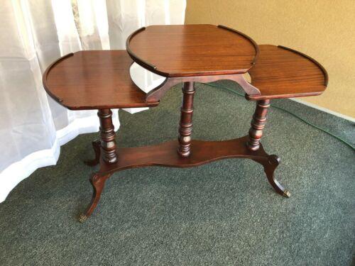 Antique Multi Tier Mahogany Mersman/ Duncan Phyfe Plant/ side table