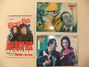 THE AVENGERS DIANA RIGG TV RARE 3 CARD MAIL IN SET EMMA PEEL CORNERSTONE PROMO