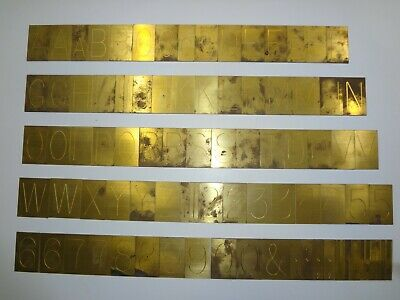 New Hermes Brass Master Copy Type Condensed Block 35-022 97 Piece Font Set