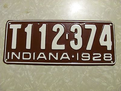 1928 INDIANA TRUCK LICENSE PLATE  repaint FREE SHIPPING