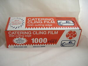 Castleview Catering Cling Film with Cutter Box Edge 300m x 300mm
