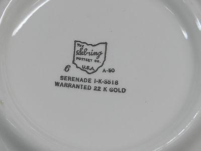 1ea 8-3/4 x 2-7/8 SERVING BOWL SEBRING SERENADE VINTAGE/ANTIQUE 22 K GOLD CHINA - $42.00