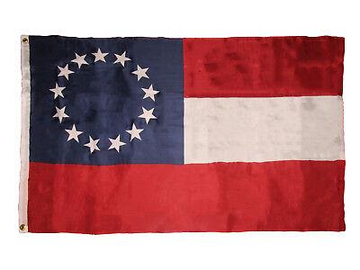 3X5 Stars And Bars First National 13 Southern States Csa Civil War Flag 3X5