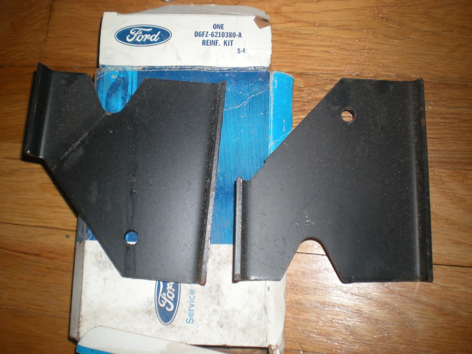 NOS 1976 - 1980 FORD PINTO FRONT SIDE MEMBER ISOLATING MOUNTING REINFORCEMENTS