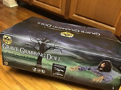 Sold Out Spirit Halloween Grave Grabbing Grabber Doll Animated Prop SEALED BOX