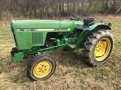 1982 JOHN DEERE 850 DIESEL COMPACT UTILITY FARM TRACTOR NO RESERVE!!!!!