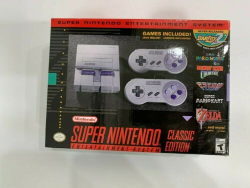 SNES Super Nintendo Classic Mini Entertainment System 21 + 6000 Games Super NES
