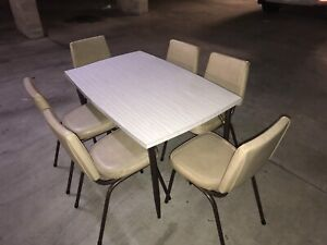 RETRO 60's 7 PIECE DINING SET FOLDABLE TABLE WITH 6 CHAIRS Parramatta Parramatta Area Preview