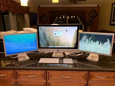 "APPLE IMAC 27''  I5-2.70GHZ,16GB,1TB  New HD, 2 Apple Cinema 20"" Monitors"