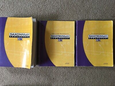 Saxon Math 8/7 Homeschool Kit by Stephen Hake and Saxon