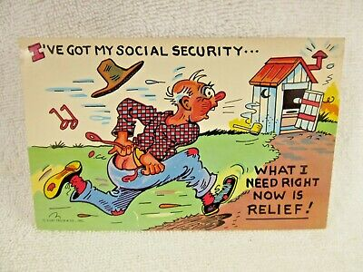 I've Got My Social Security What I Need Right Now Is Relief Stimulus Comic PC
