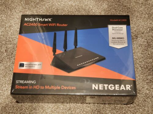 NEW SEALED Netgear Nighthawk AC2400 Smart WiFi Dual-band Dua