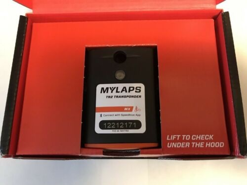 MYLAPS TR2 Rechargeable Transponder MX (motocross)1 year Subscription & Mount