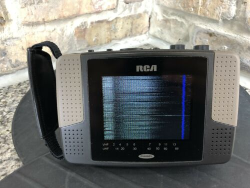RCA L4000BC TFT ACTIVE MATRIX HAND-HELD PORTABLE LCD Television TV VHF-UHF Works