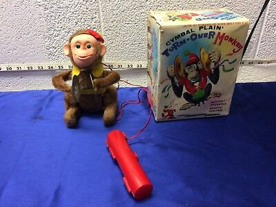 '60s TN NOMURA JAPAN CYMBAL PLAYIN' TURN-OVER MONKEY BATTERY WITH BOX](Monkey With Cymbal)