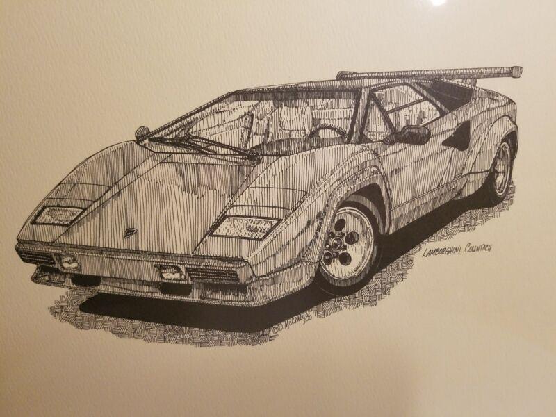 Lamborghini Countach Print 12