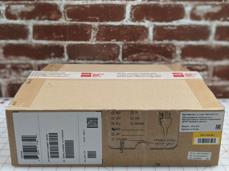 Juniper Networks SRX300 8 Port Services Desktop Security Appliance Configured
