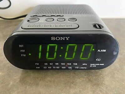 Sony Dream Machine AM/FM Alarm Clock Radio Model ICF-C218 Black Tested