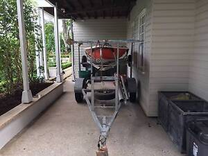 Laser Sailing Dinghy and Double Galvanized Trailer Ascot Brisbane North East Preview