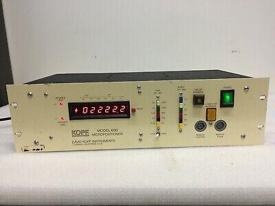 David Kopf 650 Micropositioner Controller 10-1.0mm - 100-0.1um